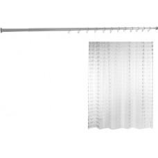 Комплект  Штора для ванной Ridder Loupe 35897 + Карниз для ванны Aquanet прямой 170 см + Крючок для шторы Ridder 49300 прозрачный