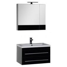 Мебель для ванной Aquanet Верона 75 подвесная черная