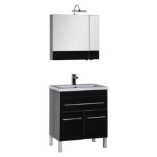 Мебель для ванной Aquanet Верона 75 черная, 1 ящик, 2 двери