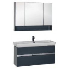 Мебель для ванной Aquanet Виго 120 сине-серая