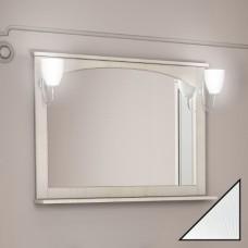 Зеркало Dreja.eco Antia 105 с полочкой, белое