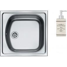 Комплект  Мойка кухонная Franke Eurostar ETN 610 сталь + Дозатор Axentia Lissabon 122149