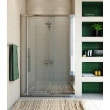 Душевая дверь в нишу GuteWetter Guwer GK-662D 110 см стекло бесцветное, профиль хром