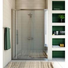 Душевая дверь в нишу GuteWetter Guwer GK-662D 125 см стекло бесцветное, профиль хром