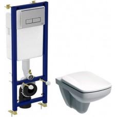 Комплект Чаша для унитаза подвесного IFO Special RP731200100 + Инсталляция Ideal Standard W3710AA 4 в 1 + Крышка-сиденье с микролифтом