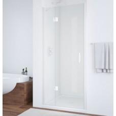 Душевая дверь в нишу Vegas Glass AFP 0100 01 01 L профиль белый, стекло прозрачное