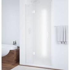 Душевая дверь в нишу Vegas Glass AFP 0100 01 10 L профиль белый, стекло сатин