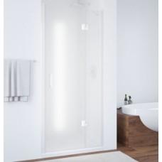 Душевая дверь в нишу Vegas Glass AFP 0100 01 10 R профиль белый, стекло сатин