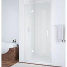 Душевая дверь в нишу Vegas Glass AFP 0110 01 01 L профиль белый, стекло прозрачное