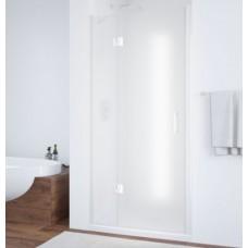 Душевая дверь в нишу Vegas Glass AFP 0110 01 10 L профиль белый, стекло сатин