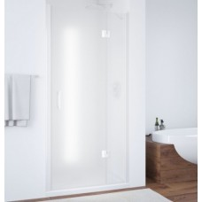 Душевая дверь в нишу Vegas Glass AFP 0110 01 10 R профиль белый, стекло сатин