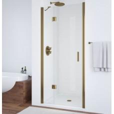 Душевая дверь в нишу Vegas Glass AFP 0100 05 01 L профиль бронза, стекло прозрачное