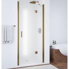 Душевая дверь в нишу Vegas Glass AFP 0100 05 10 R профиль бронза, стекло сатин
